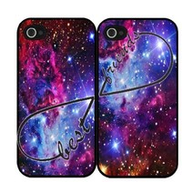 Apple iphone 5C Fox Fur Nebula galaxy hakuna matata Best Friends Set Of Two (2) BFF hard Cover Case printed HD pattern unique logo protector bumper DIY Personalized portrait customized cover back shell creative gift ultra-thin best Quality Limited Edition