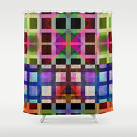 MELANGE OF SQUARES I Shower Curtain by Pia Schneider [atelier COLOUR-VISION]
