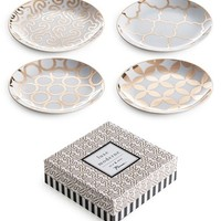 Rosanna 'Luxe Moderne' Appetizer Plates - White (Set of 4)