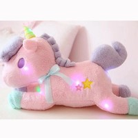 Nooer Luminous Led Light Stuffed Unicorn Plush Toy Soft Flashing Stuffed Animal Unicornio Doll Children Kids Birthday Gift