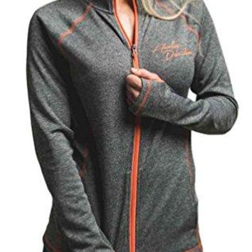 Harley-Davidson Women's Performance Zip Premium Mock Neck Sweatshirt H666-HB83