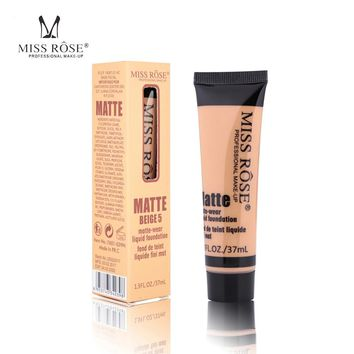 MISS ROSE Face Base Liquid Foundation BB Cream Concealer Whitening Moisturizer Smooth Makeup Matte Yellow Cosmetic Free Shipping