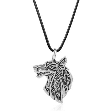 Wolf Pendant Necklace Wolf Head Necklace