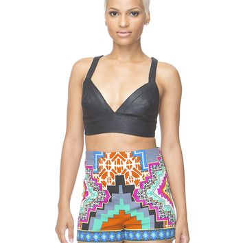 PRINT ENVY HIGH WAIST SHORTS