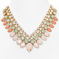 RJ Graziano Mixed Beaded Bib Necklace, 16""
