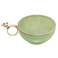 Faberge Bowenite Charka with Jewelled Handle by Perchin