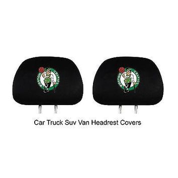 Licensed Official New NBA Pick Your Team Car Truck Suv Embroidered Headrest Covers Automotive Gear