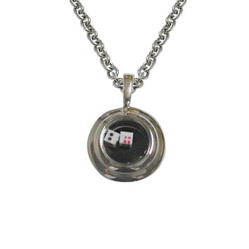 Rattling Dice Pendant Necklace