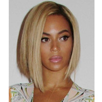 Short Blonde Ombre Wigs African American Wig Synthetic Wigs for Black Women Cheap Bob Natural Hair  for Women Sale