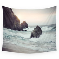 Society6 Crashing Waves Wall Tapestry