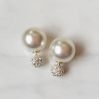 Sparkle & Pearl Double Studs