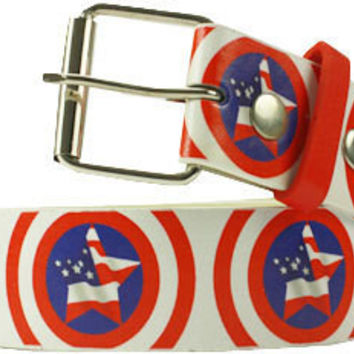 Fashion Printed Belt - American Star Flag Design