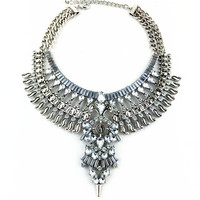 Vintage Necklaces & Pendants Fashion  Big Collar Necklace Gold Necklace Crystal Jewelry Statement Necklace