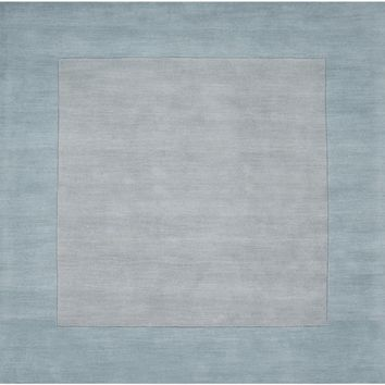 Surya Mystique M305 Grey/Blue Solids and Borders Area Rug