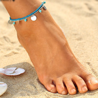 Summer Turquoise Beads Anklet