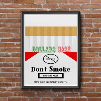 Cigarette Packet Photo Poster