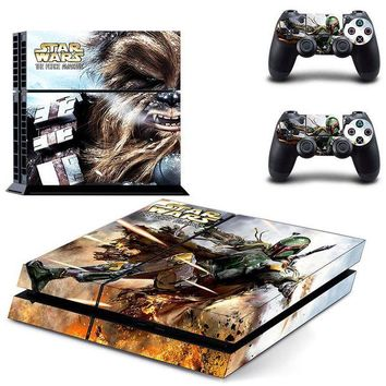 DCCKJN2 STAR WARS The Force Awakens Skin Sticker For PS4 PlayStation 4 Console and 2 Controller skin