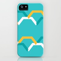 Teal Steps iPhone Case by spaceandlines