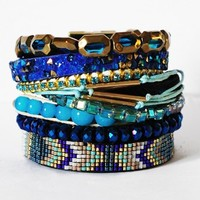 Hipanema Peacock Bracelet - Buy this beautiful blue holiday jewellery at Coco Bay