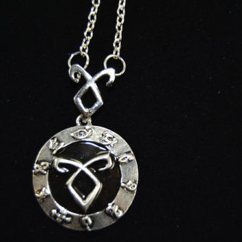 The Mortal Instruments City of Bones Shadowhunter Runes  *chain or keychain custom made*