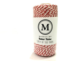 NEW! Red Baker Twine- 100 yards / gift wrapping / 12 ply.