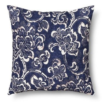 Threshold™ Decorative Floral Pillow - Navy