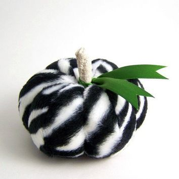 Fun and Funky Zebra in the Grass Pumpkin by SeaPinks on Etsy