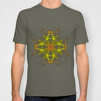 Orange & Yellow Smoke Art T-shirt by Karl Wilson Photography