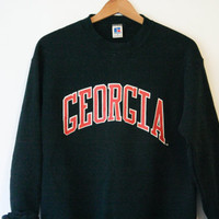 Vintage Black University of Georgia Sweatshirt