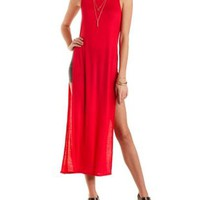 Side Slit Maxi Tank Top by Charlotte Russe