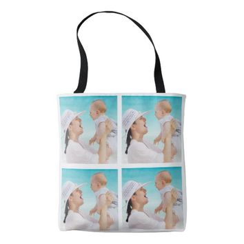Personalized Photo Collage Tote Bag for Mom