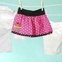 Kids Clothes - Polka Dot Baby Skirt with Cupcake from Paper Doll - Sale Items - Clothing   Pinup Girl Clothing