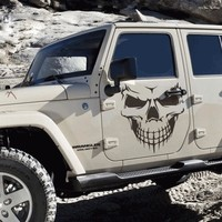 53cm*59cm Big Skull Car Stickers Exterior Accessories Car Styling Decal Sticker for Car or Motorcycle