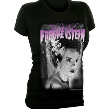 Bride Of Frankenstein Girls T-Shirt :: VampireFreaks Store :: Gothic Clothing, Cyber-goth, punk, metal, alternative, rave, freak fashions