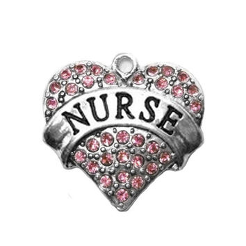 Crystal Heart Nurse Charm