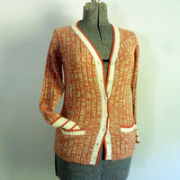 Vintage 1970s Button Front Sweater/Cardigan by rileybella123