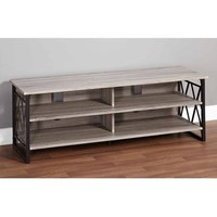 "Jaxx Collection TV Stand for TVs up to 60"", Black/Gray - Walmart.com"