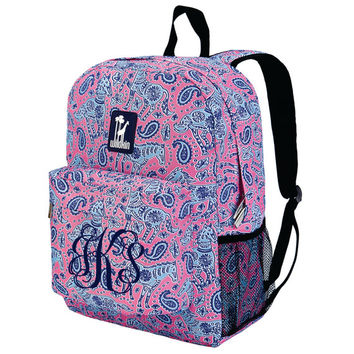 Monogram Backpack and Lunch Bag Set - Wildkin - Personalized - Water Color Ponies - Back to School Crackerjack