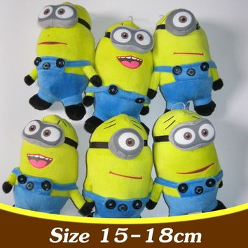 3PCS Set Despicable Me Minion Toys 3D Minion Plush Toys Baby Stuffed Plush Dolls 18cm Jorge Dave Kids Plush Toy TY29