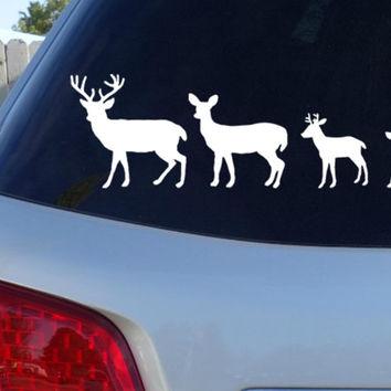 Deer Family Car Window Decal - Country Decal