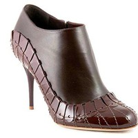 Christian Dior Serpent Brown Leather Booties Size 37.5 US 7.5