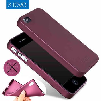 X-Level Ultra thin Soft Matte TPU Case for Apple iPhone 4S 4 5 5S SE Scrub Back Cover for iPhone 6 6S 7 plus Silicone Case Capa