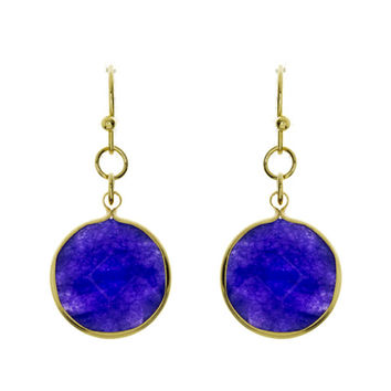 Bailey Circle Gem Drop Earrings