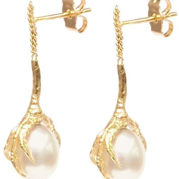 Wouters & Hendrix Gold 'Crow's Claws' pearl earrings