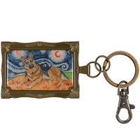 German Shepherd Van Growl Framed Keychain
