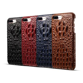 Hornback Gator Embossed Phone Cases for iPhone 6, 6S, 7 Plus