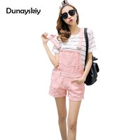 Women Jean Playsuit Denim Overalls Shorts 2017 Summer Jumpsuits & Rompers Denim overalls for woman Romper Women Dunayskiy