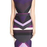 Vince Camuto Colorblock Ponte Midi Dress | Nordstrom
