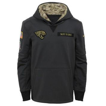DCCKG8Q NFL Jacksonville Jaguars Youth  Nike Charcoal Salute to Service Performance Pullover Hoodie
