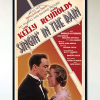 Singin in the Rain - Retro Alternative Movie Poster - 1920's - 1930's